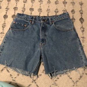 Vintage Red Tab Levi Cut off Shorts